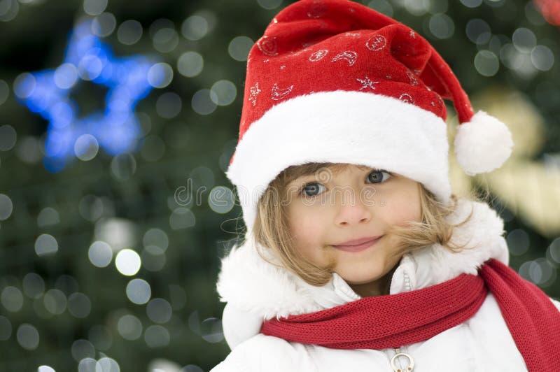 śliczna Boże Narodzenie dziewczyna obrazy stock