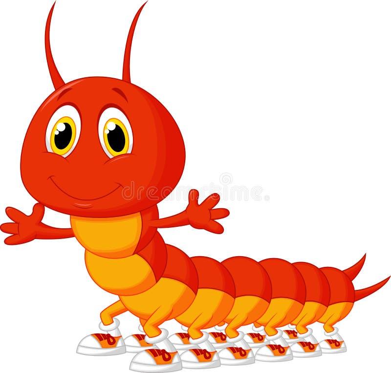 Śliczna centipede kreskówka ilustracji