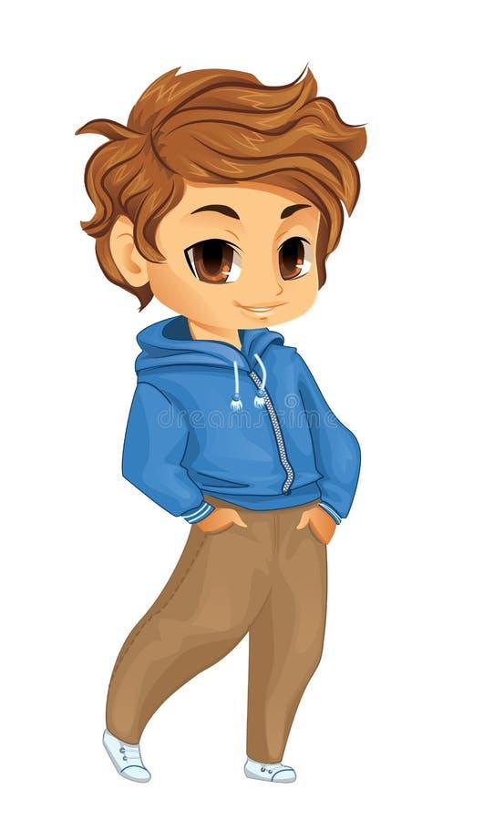 Śliczna chłopiec ilustracji