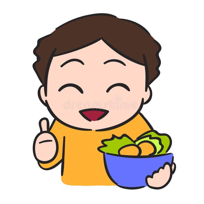 Download Śliczna Chłopiec Je Warzywa, Wektoru Zapas Ilustracja Wektor - Ilustracja złożonej z jedzenie, świeży: 57652699