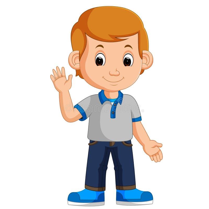 Śliczna chłopiec kreskówka ilustracja wektor