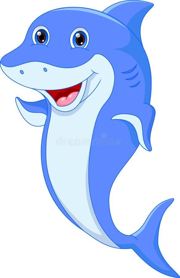 Śliczna delfin kreskówka ilustracji