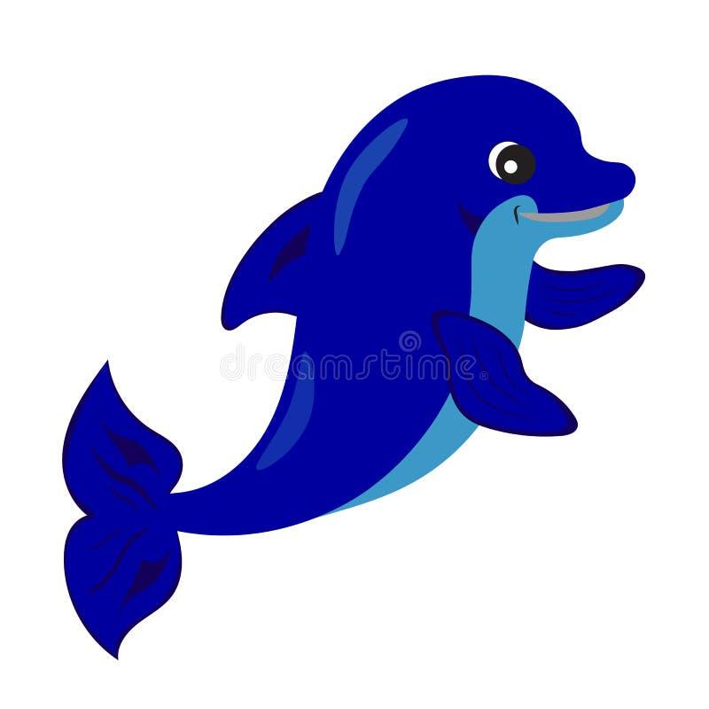 Śliczna delfin kreskówka royalty ilustracja