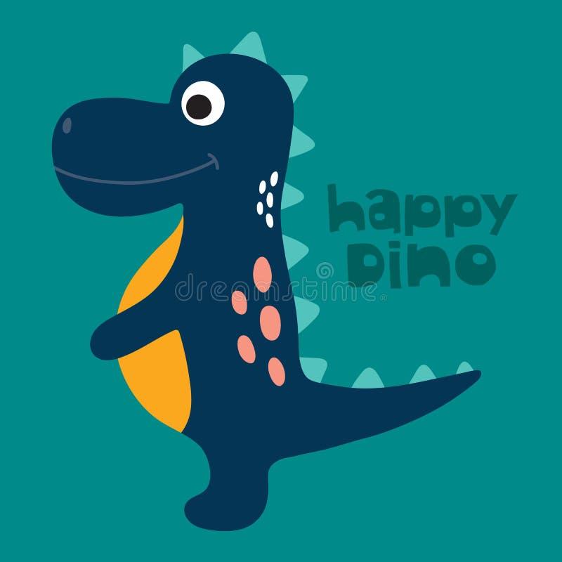 Śliczna Dino ilustracja royalty ilustracja