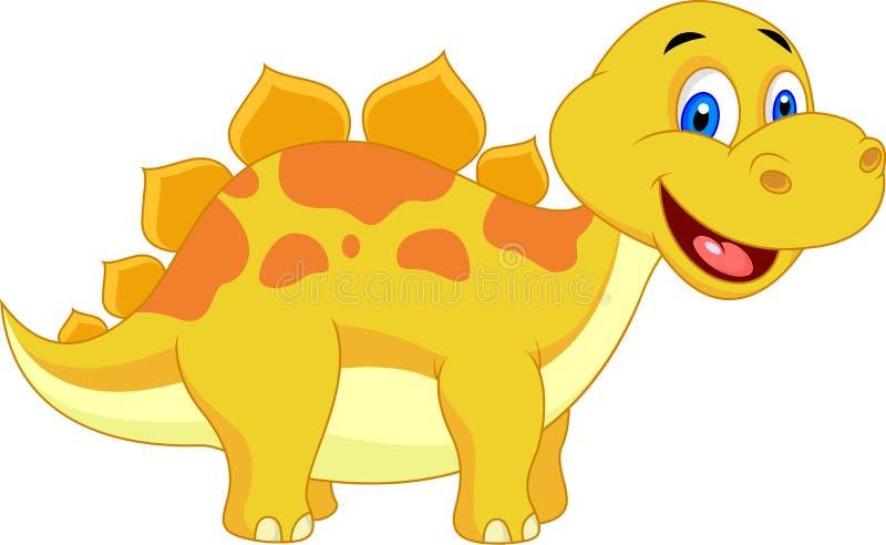 Śliczna dinosaur kreskówka royalty ilustracja