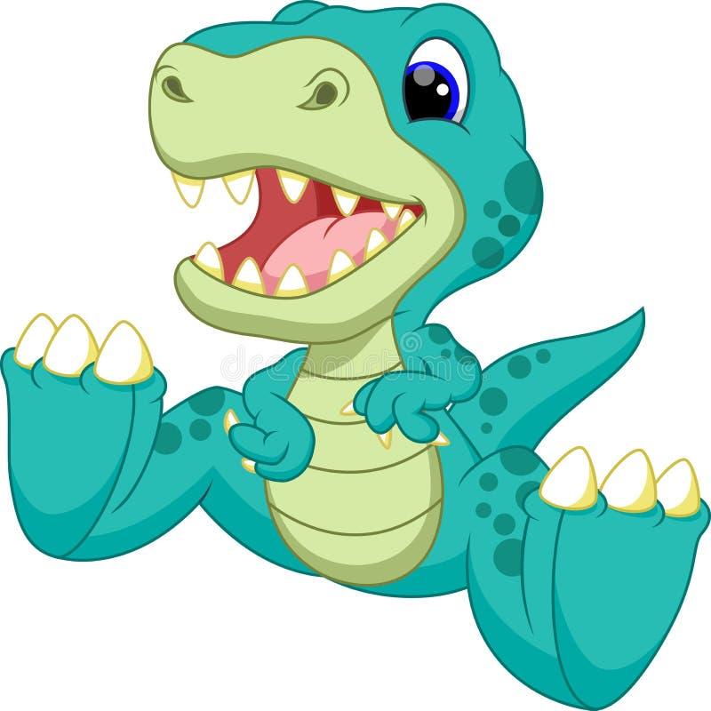 Śliczna dziecko dinosaura kreskówka ilustracji