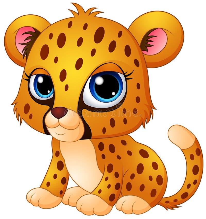 Śliczna dziecko geparda kreskówka ilustracji