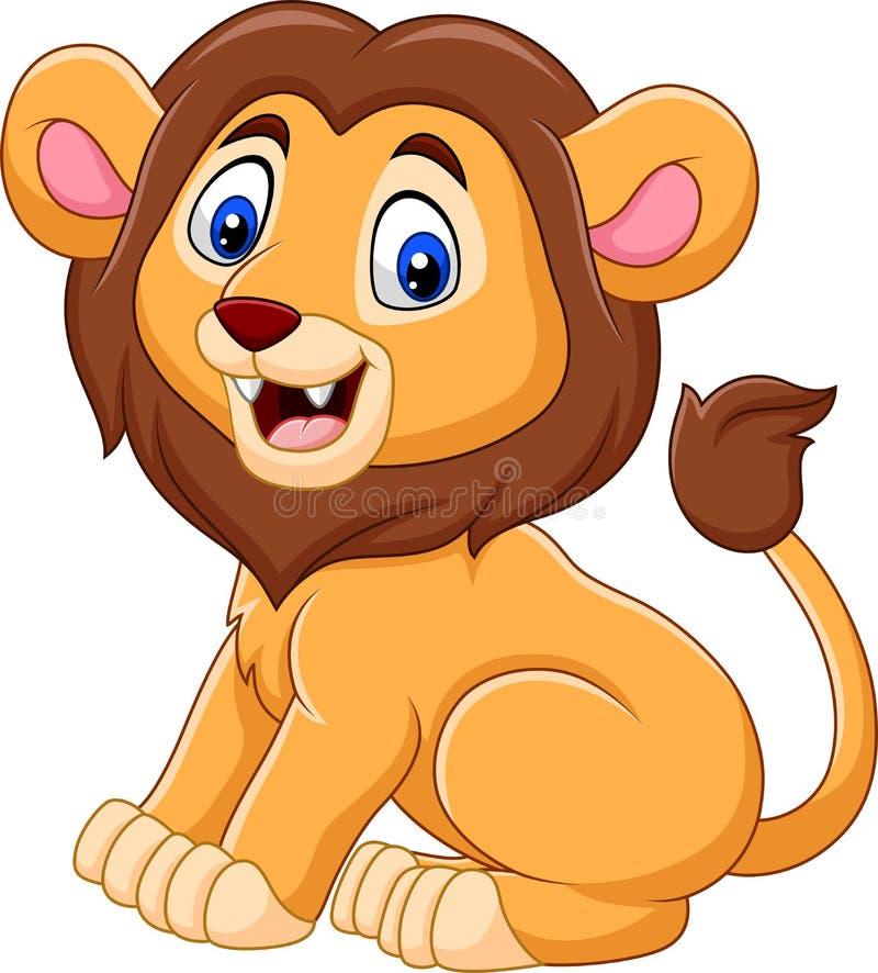 Śliczna dziecko lwa kreskówka ilustracja wektor