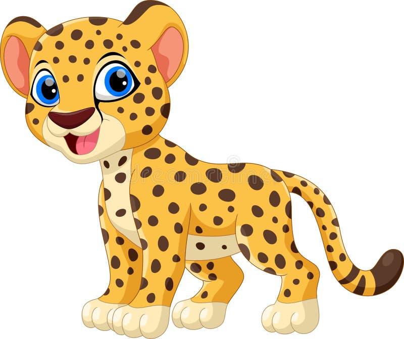 Śliczna dziecko lwa uśmiechu kreskówka royalty ilustracja