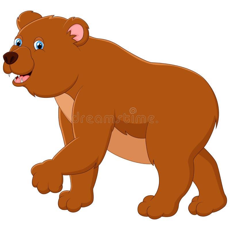 Śliczna dziecko niedźwiedzia kreskówka royalty ilustracja