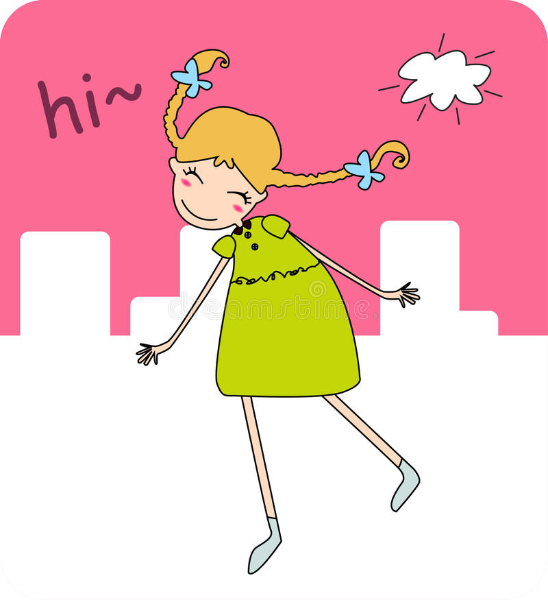 śliczna dziewczyna ilustracja wektor