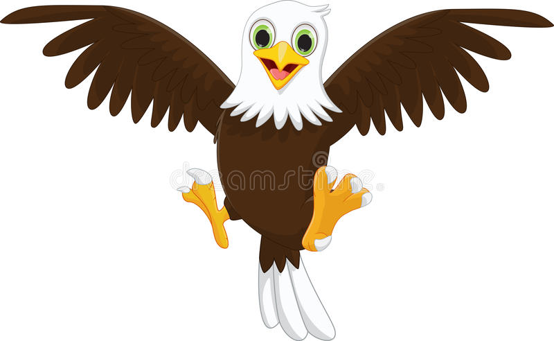 Śliczna Eagle kreskówka ilustracji