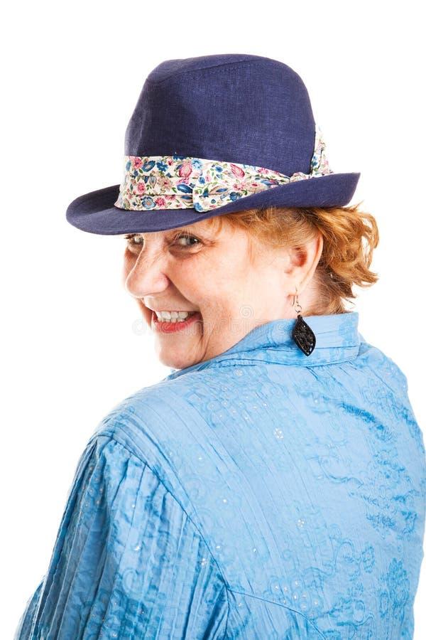 Śliczna Flirty starzejąca się kobieta zdjęcia royalty free
