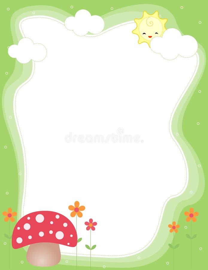 Śliczna granica wiosna rama/ royalty ilustracja