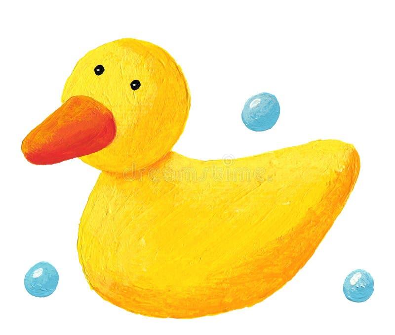 Śliczna gumowa kaczka ilustracja wektor