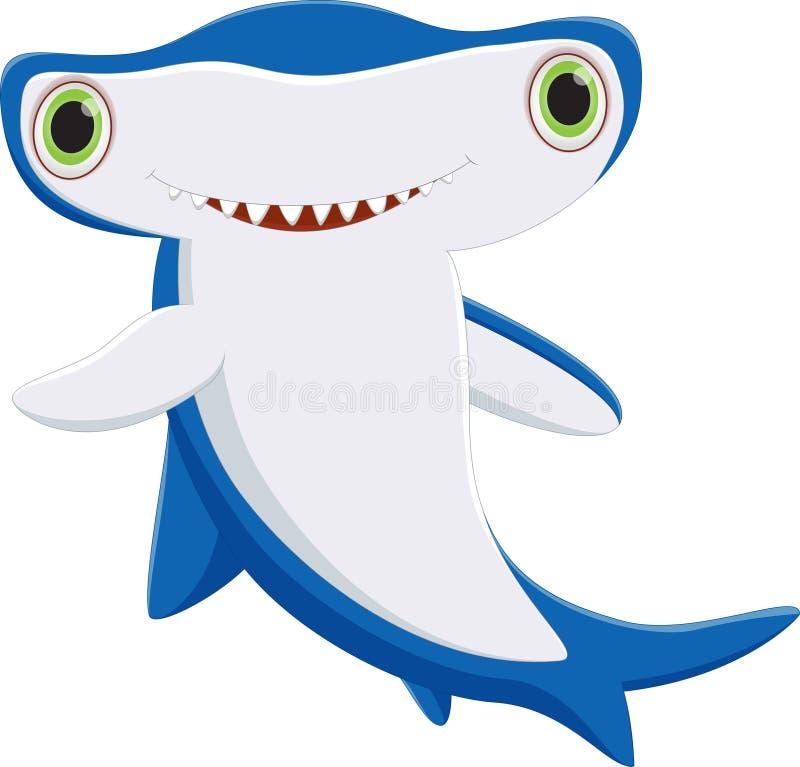 Śliczna hammerhead rekinu kreskówka royalty ilustracja