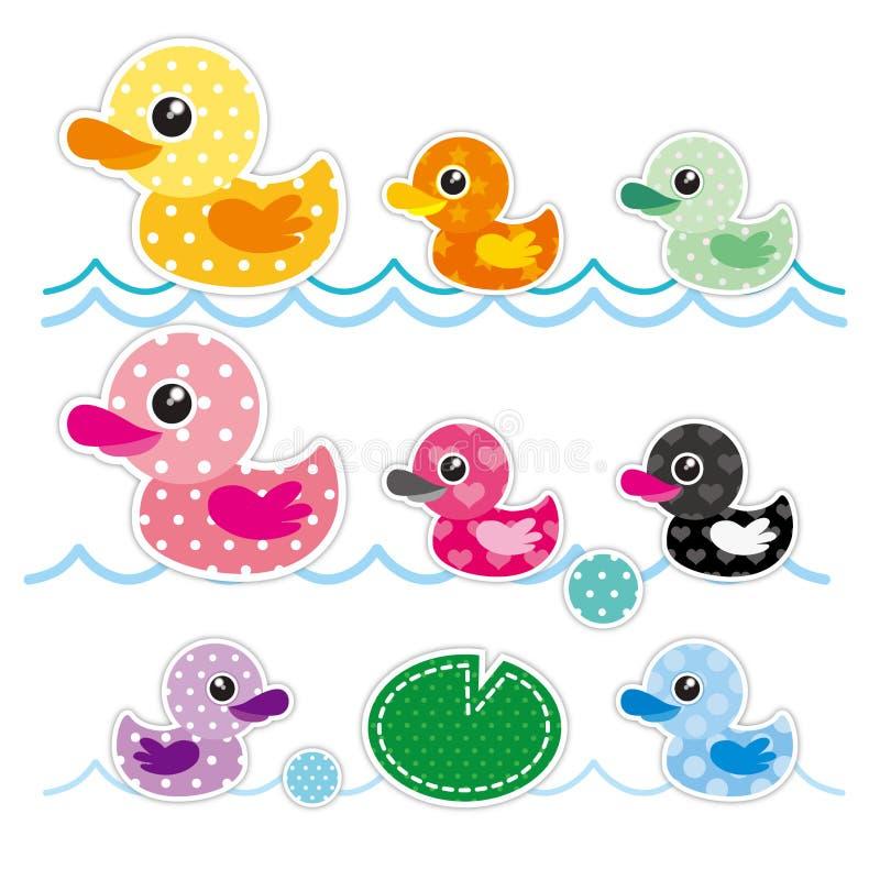 Kolorowa Mała kaczka ilustracji