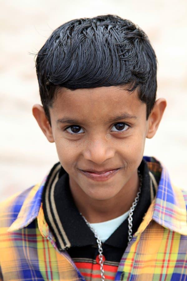 Śliczna indyjska chłopiec obraz royalty free