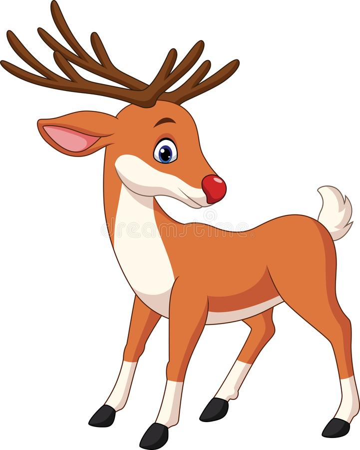 Śliczna jelenia kreskówka royalty ilustracja