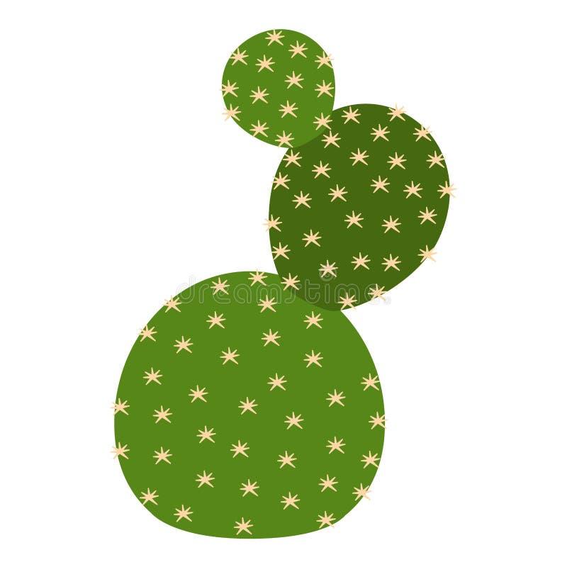 Śliczna kaktusowa ikona ilustracja wektor
