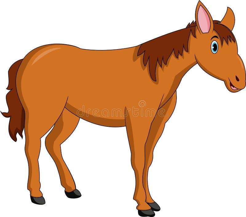 Śliczna końska kreskówka ilustracja wektor