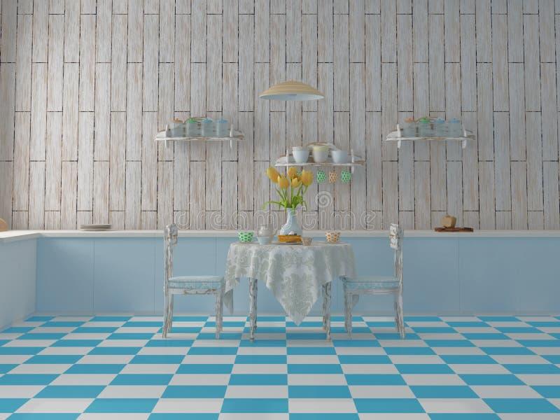 Śliczna kolorowa kuchnia ilustracja wektor