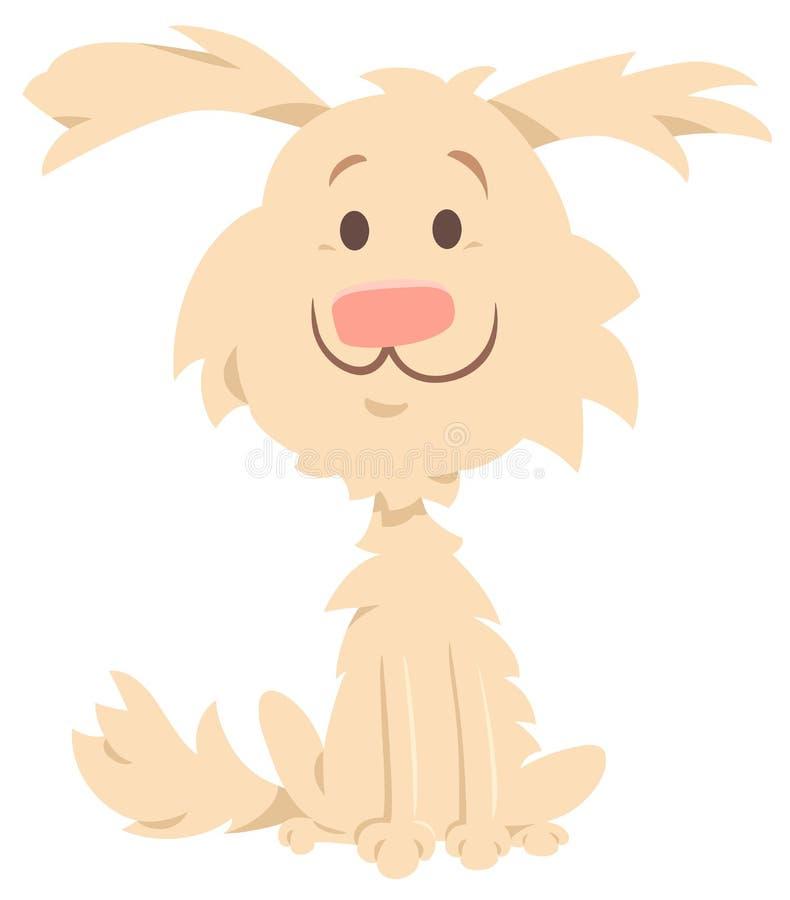 Śliczna kostrzewiasta beżu psa postać z kreskówki ilustracja wektor