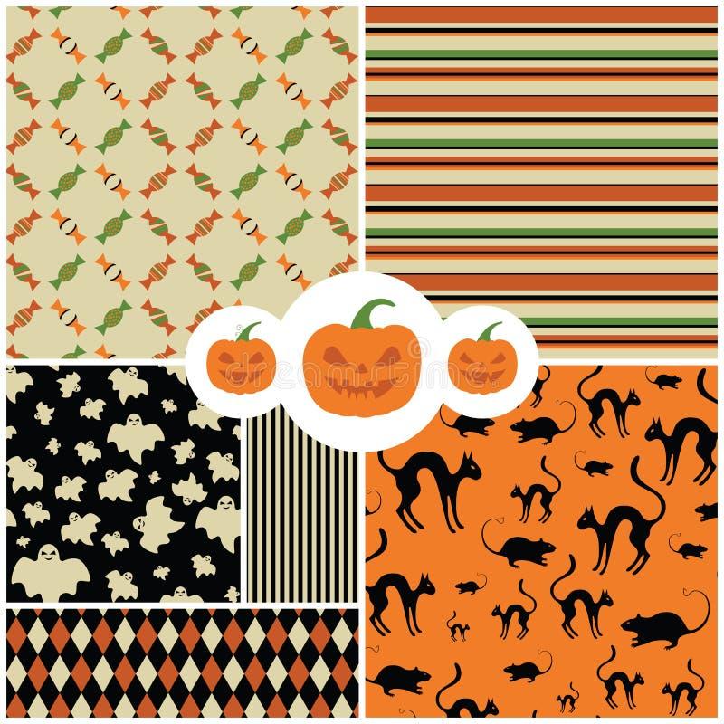 Śliczna Kreatywnie tekstura Z Halloweenowym tematu projektem Halloweenowy wektor ilustracji