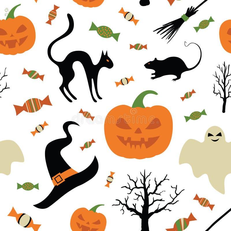 Śliczna Kreatywnie tekstura Z Halloweenowym tematu projektem Halloweenowy wektor ilustracja wektor