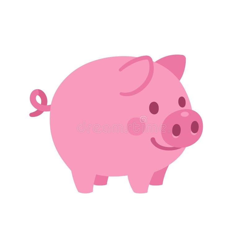 śliczna kreskówki świnia ilustracja wektor
