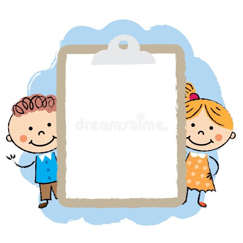 Śliczna kreskówki dzieciaków rama ilustracji