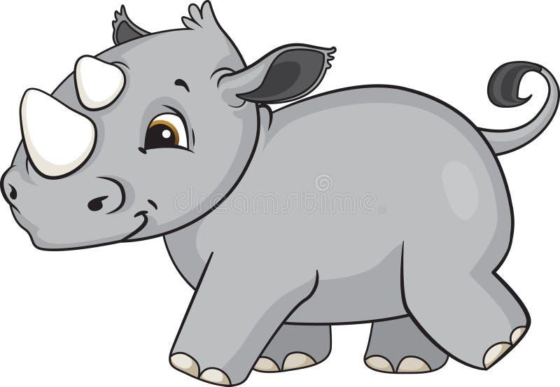 Dziecko nosorożec kreskówka royalty ilustracja