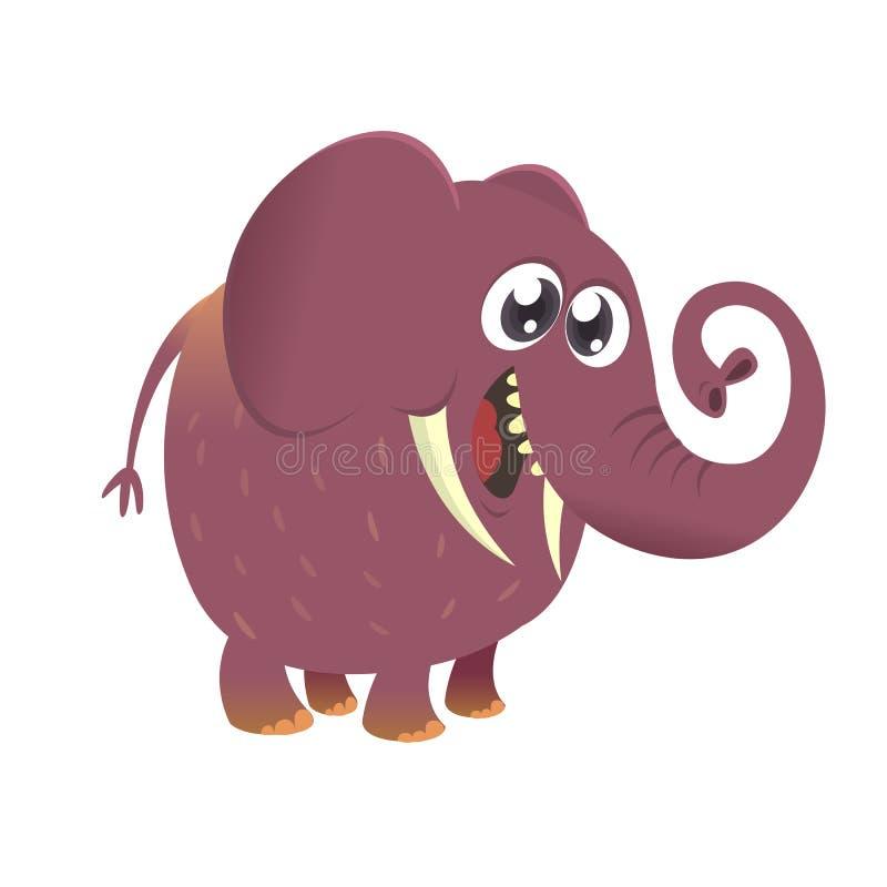 Śliczna kreskówki dziecka słonia ikona Wektorowa ilustracja z prostymi gradientami ilustracji