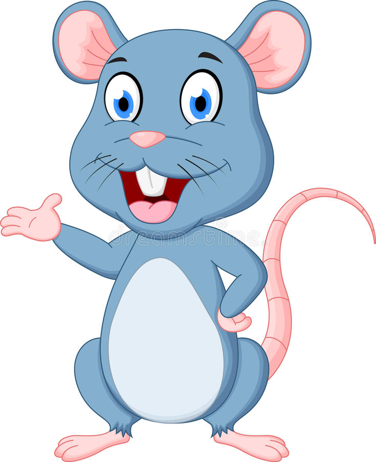 śliczna kreskówki mysz ilustracji