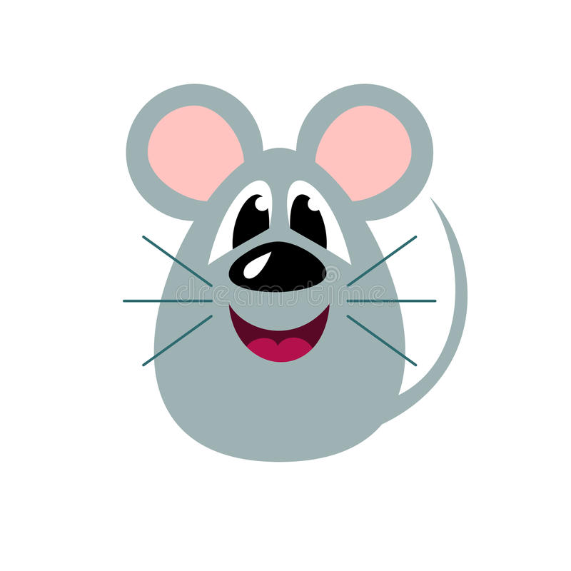 Śliczna kreskówki mysz, stylizowany śmieszny potwór ilustracja wektor
