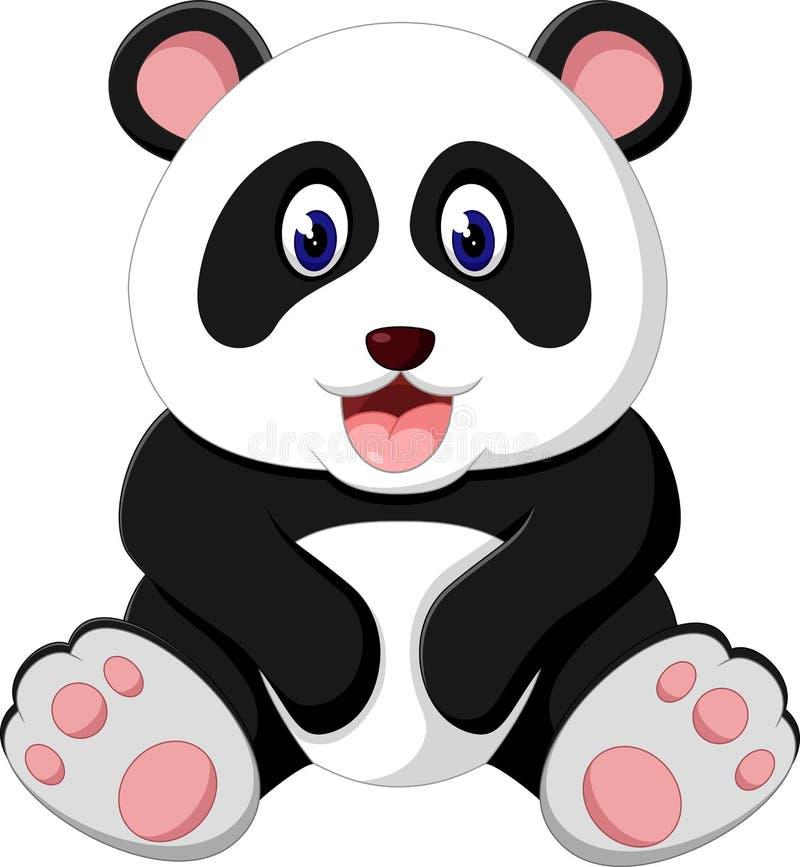 śliczna kreskówki panda ilustracji