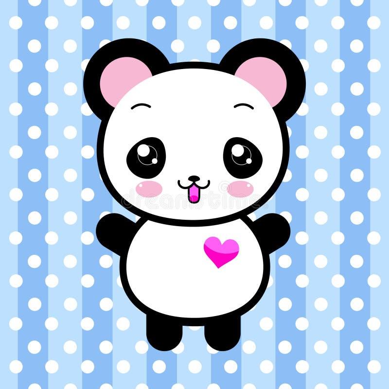 Śliczna kreskówki pandy zabawka ilustracja wektor