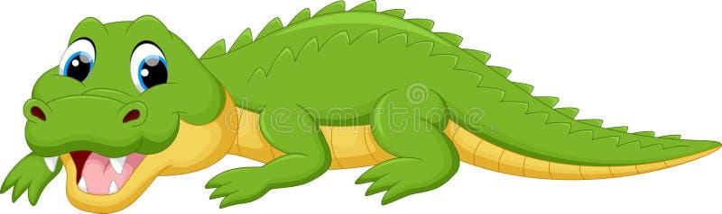 Śliczna krokodyl kreskówka ilustracji