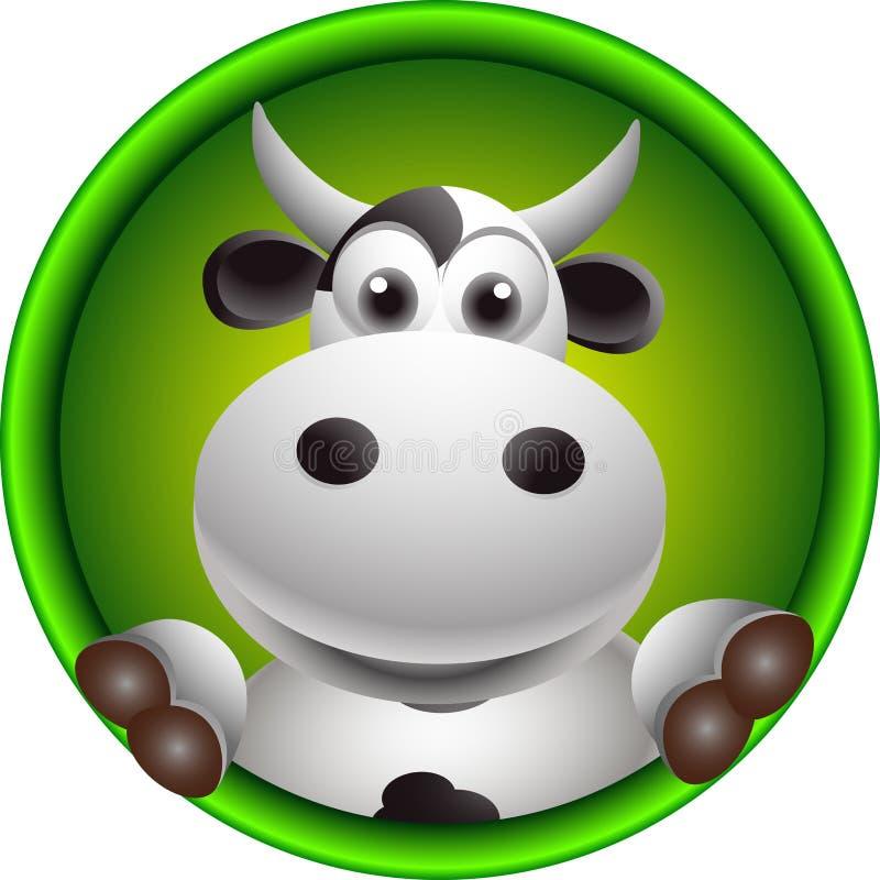 Śliczna krowy głowy kreskówka royalty ilustracja