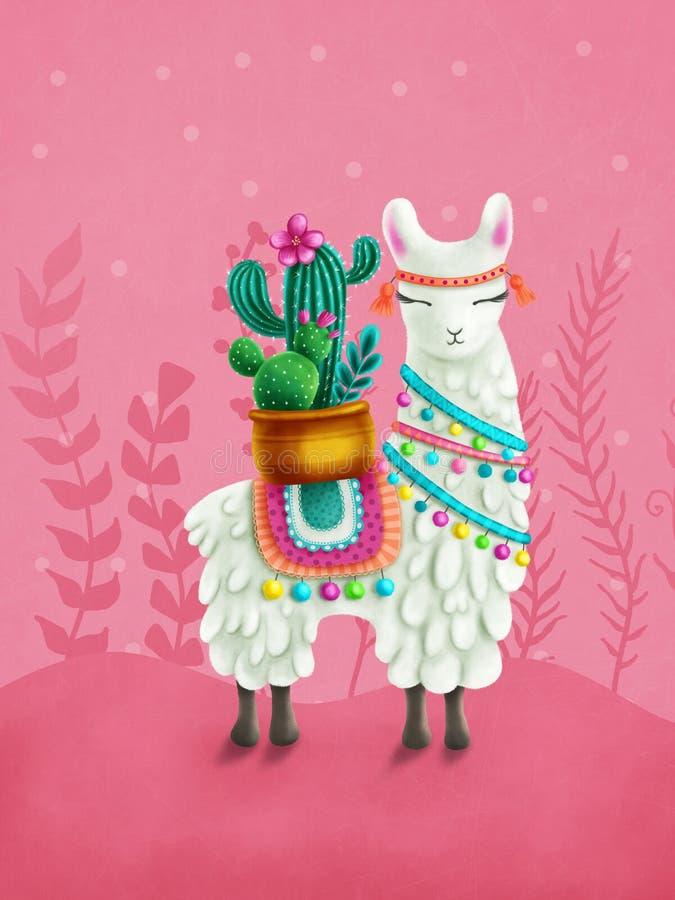 Śliczna lama royalty ilustracja