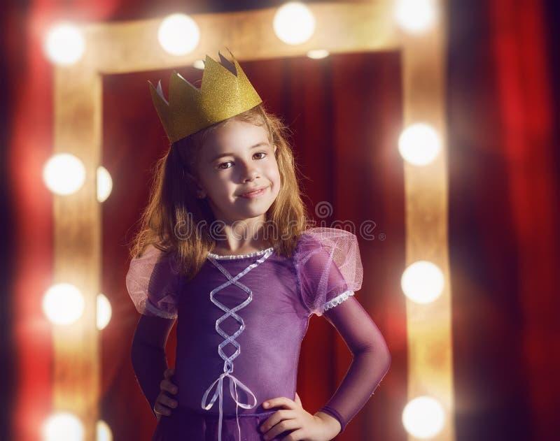 Śliczna mała aktorka obraz stock