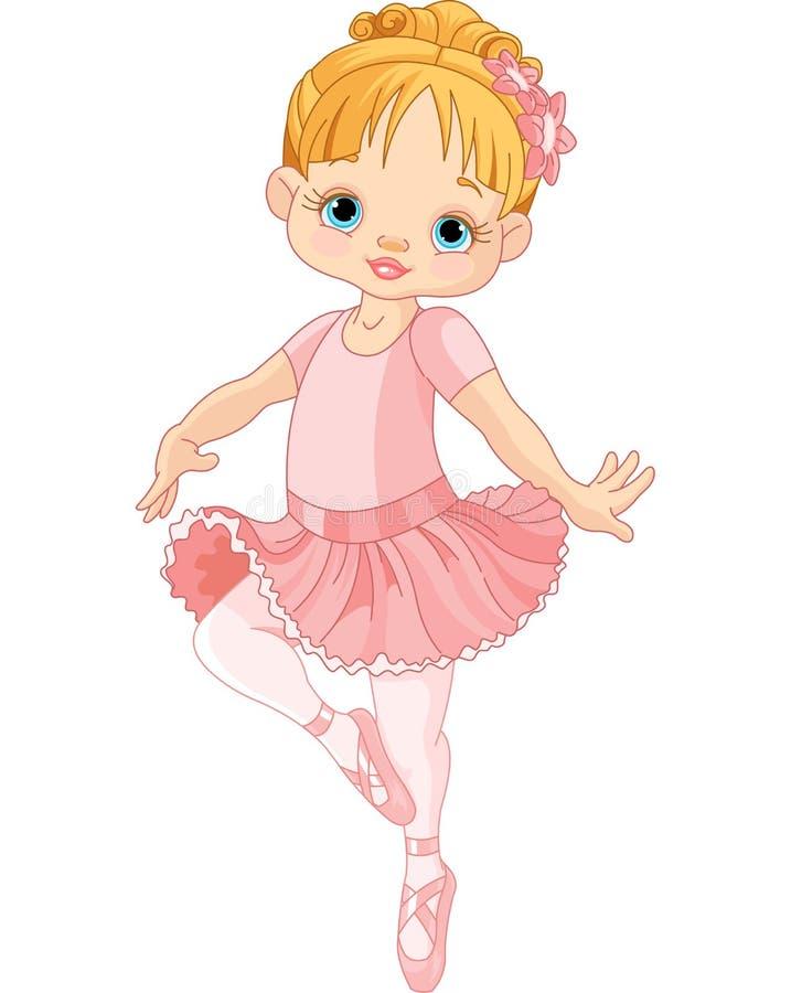Śliczna mała balerina royalty ilustracja