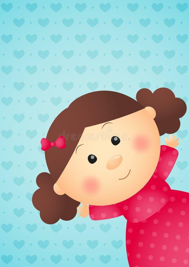 Śliczna mała dziewczynka royalty ilustracja