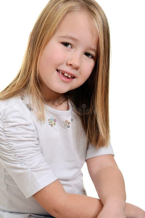 Śliczna mała dziewczynka fotografia royalty free
