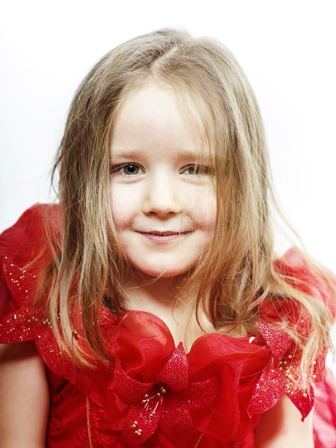 Śliczna mała dziewczynka ubierał jak princess, zakończenie portret fotografia royalty free