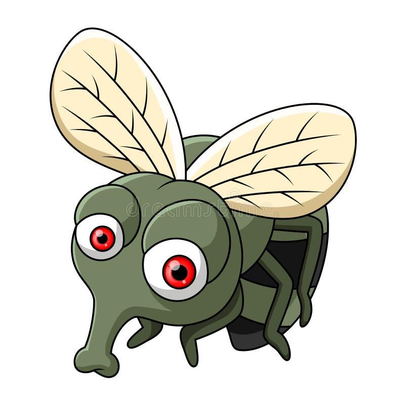 Śliczna mała komarnicy kreskówka ilustracja wektor