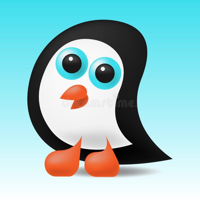 Śliczna mała pingwin ilustracja ilustracja wektor