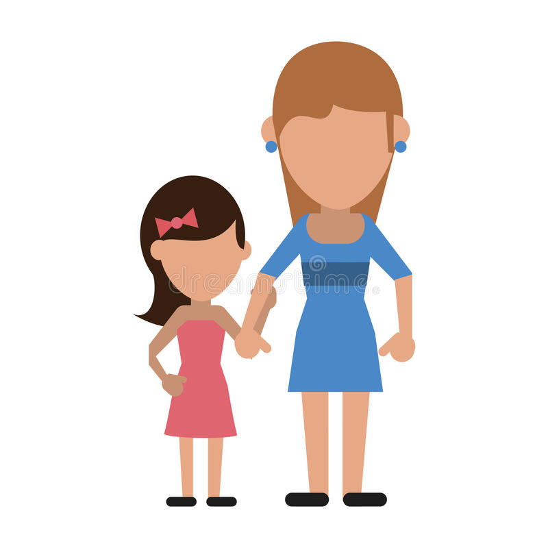 Śliczna mama z córką royalty ilustracja