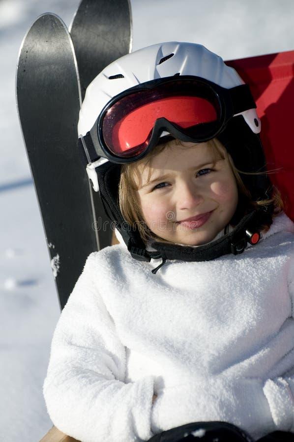 śliczna narciarka zdjęcia stock