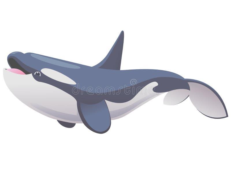 Śliczna orka ilustracja wektor